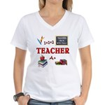 Teachers Do It With Class Women's V-Neck T-Shirt