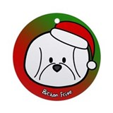 Cartoon Bichon Frise Christmas Ornament