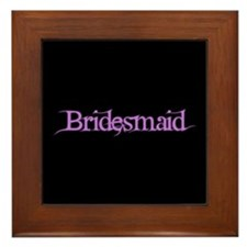 Bridesmaid - Pink Fantasy Framed Tile