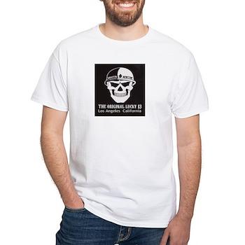 Shootin Newton White T-Shirt
