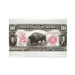 Buffalo Money Rectangle Magnet