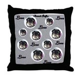 Griffy love Throw Pillow