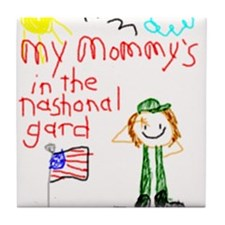 National Guard Mommy! Tile Coaster