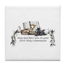 1st Communion Tile Coaster