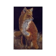 Red Fox Rectangle Magnet