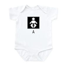 Baby A Symbol Infant Bodysuit