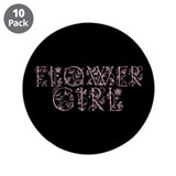 "Flower Girl - Victorian Flowe 3.5"" Button (10 pack"