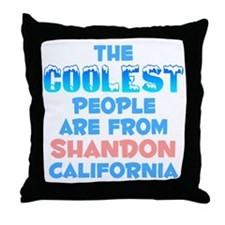 Coolest: Shandon, CA Throw Pillow