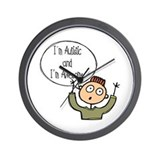 I'm Autistic & Awesome Wall Clock