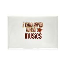 I Like Girls with Musics Rectangle Magnet
