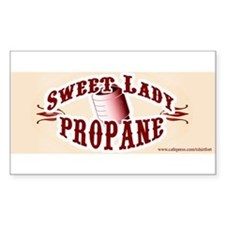 Sweet Lady Propane Rectangle Decal