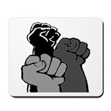 Black Power Fists Mousepad