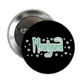 "Newlywed - Charmed Green 2.25"" Button (100 pack)"