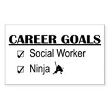 Social Worker Career Goals Rectangle Decal