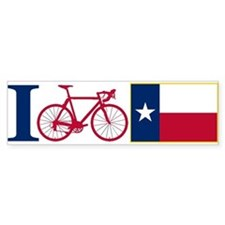 I BIKE Texas! Bumper Bumper Sticker
