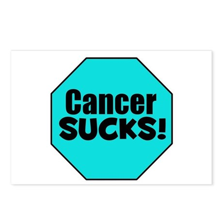 Cancer Sucks Postcards (Package of 8)