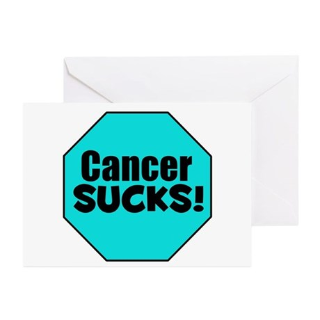 Cancer Sucks Greeting Cards (Pk of 10)
