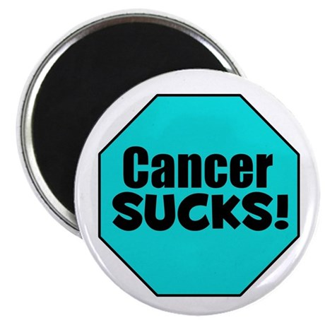 "Cancer Sucks 2.25"" Magnet (10 pack)"