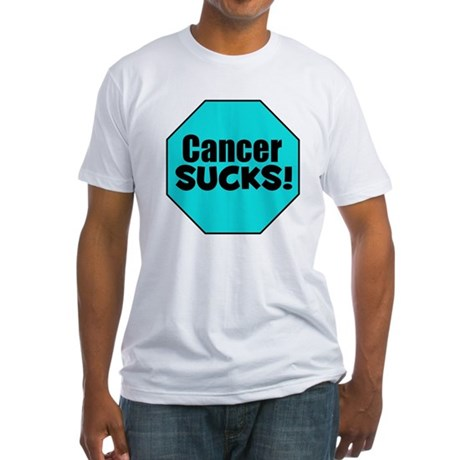 Cancer Sucks Fitted T-Shirt