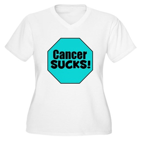 Cancer Sucks Women's Plus Size V-Neck T-Shirt