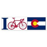 I BIKE Colorado Bumper Bumper Stickers