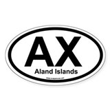 AX Aland Islands Oval Decal