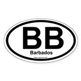BB Barbados Oval Decal