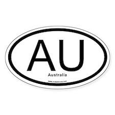 AU Australia Oval Stickers