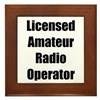 Licensed Radio Operator Framed Tile