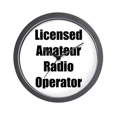 Licensed Radio Operator Wall Clock