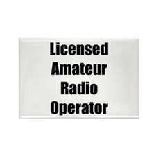 Licensed Radio Operator Rectangle Magnet