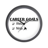 Welder Career Goals Wall Clock