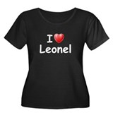 I Love Leonel (W) Women's Plus Size Scoop Neck Dar