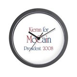 Kieran for McCain 2008 Wall Clock