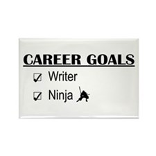 Writer Career Goals Rectangle Magnet