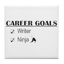 Writer Career Goals Tile Coaster