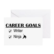 Writer Career Goals Greeting Cards (Pk of 10)