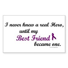 Never Knew A Hero BEST FRIEND (Purple) Decal