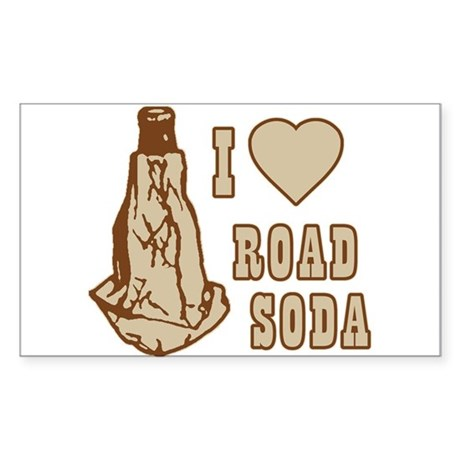 I Love Road Soda Rectangle Sticker