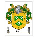 Hall Family Crest Small Poster