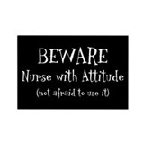 Nurse With Attitude Rectangle Magnet