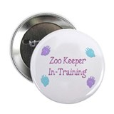"Zoo Keeper In Training Pink 2.25"" Button"