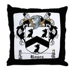 Hayes Family Crest Throw Pillow