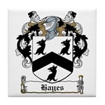 Hayes Family Crest Tile Coaster