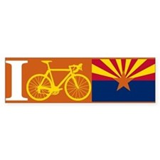 I BIKE Arizona Bumper Bumper Sticker