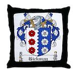 Hickman Family Crest Throw Pillow