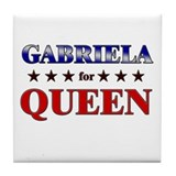 GABRIELA for queen Tile Coaster