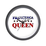 FRANCESCA for queen Wall Clock