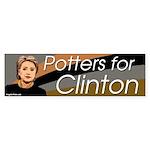 Potters for Clinton bumper sticker