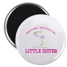 i'm getting a little sister stork Magnet